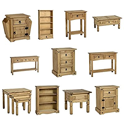 Home Discount® Corona Pine Furniture - Cabinet, Coffee Table, Bedside Chest, Bookcase, Nest Of Tables. Console Table, DVD Rack - inexpensive UK light shop.
