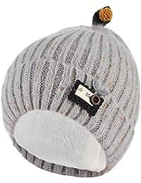 GEMVIE Bonnet Bébé Fille Garçon 6-24M Coton Chapeau Tricoté Beanie Pois  Mignon Souple Chaud 9e4f1f3a276
