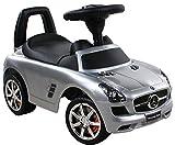 Rutschauto Rutscher MERCEDES-BENZ Kinder Auto Baby Car mit Sound (Silver)