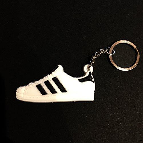 ProProCo Sneaker Schlüsselanhänger Stripes Superstar Schlüsselanhänger Superstar Schuh anhänger Fashion für Sneakerheads,Hype-Beasts und alle Adi Yeez Supreme Palace Superstar Classic (White & Black)