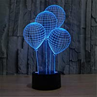 JUSUBA Balloon Lamp 3D LED acrilico luce Three - Dimensional Light Touch Interruttore Colorful Night Light