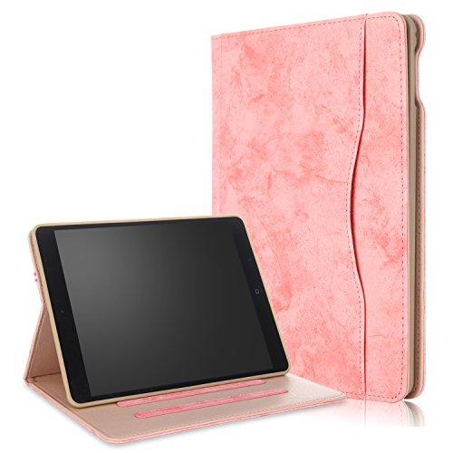 018/2017 iPad Air/Air2 Hülle Multifunktionale TPU Soft Case, Mehrere Sichtwinkel mit Hand-Halter [Auto Schlaf/Wach] Schutzhülle für Apple iPad 9.7 2017/2018/Air/Air2 Rosa ()