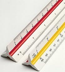 SHIVIRA Plastic Straight Measuring Triangle Scale Ruler, 30cm/12-inch (Triangle plastic ruler)