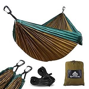 naturefun ultraleichte reise camping h ngematte 300kg tragkraft 300 x 200 cm atmungsaktiv. Black Bedroom Furniture Sets. Home Design Ideas