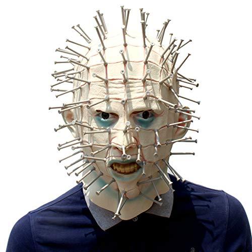 TINGSHOP Kunststoff Nägel Horror Maske, Hellraiser Pinhead Latex Kopf Maske - Perfekt Für Karneval & Halloween Unisex Einheitsgröße