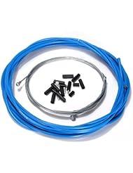 SonlineDe velo complet avant et arriere interieure fil externe engrenage cable de frein - bleu