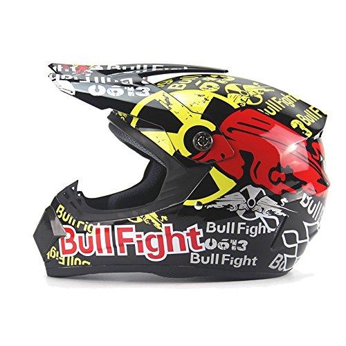Universal Rojo Bullfighting Toro Toreo Cascos Integrales BMX/MTV/Cross Country, Cascos de Motocross (M(55-56 cm))