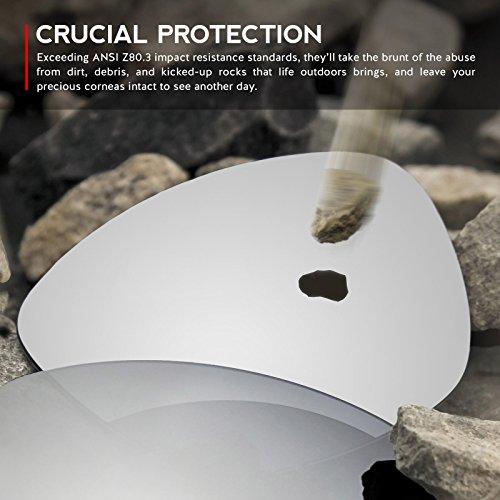 Verres de rechange pour Oakley Deviation — Plusieurs options Titanium MirrorShield® - Non-Polarisés
