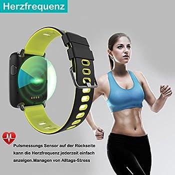 Yamay Smartwatch Bluetooth Smart Watch Uhr Mit Pulsmesser Armbanduhr Wasserdicht Ip68 Fitness Tracker Armband Sport Uhr Fitnessuhr Mit Schrittzähler,schlaf-monitor,setz-alarm,stoppuhr,sms-, Anruf-benachrichtigung Pushkamera-fernsteuerung Musik Für Android Und Ios Telefon 3