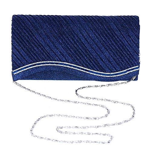 Damara® Schräg Faltenwurf Damen Mittelgroß Unterarmtasche Abendtaschen Hellgold