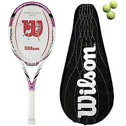 Wilson Envy 100L BLX raqueta de tenis cubierta + 3 pelotas + £180