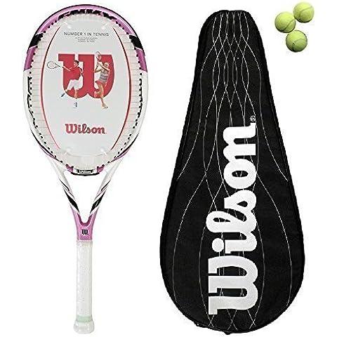 Wilson Envy 100L BLX raqueta de tenis cubierta + + 3 pelotas £180 P L2