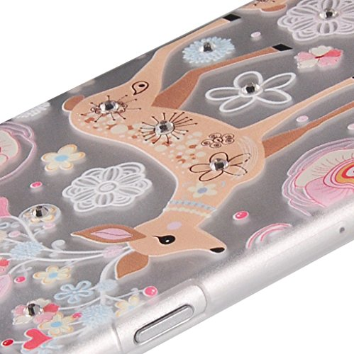 UKDANDANWEI Apple iPhone 6 Plus Hülle Case - Bling Strass Ultra Dünn Hart PC Hülle Glitzer Rückseite Slim Etui Schale für Apple iPhone 6 Plus -27 Bling-24