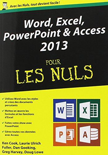 Word, Excel, PowerPoint et Access 2013 Mgapoche pour les Nuls