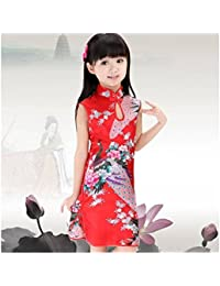 Robe chinoise déguisement tenue enfant,bébé 0 à 12 ans 1/2 ans,2/4 ans,4/6 ans,6/8 ans,8/10 ans,10/12 ans