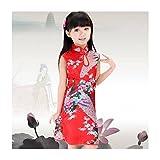 China Disfraz infantil de princesa, vestido para bebé de 0 a 12 años 1/2 años, de 2 a 4 años, 10/12 años, de 4 a 6 años, de 6 a 8 años, 8/10 años rojo rojo Talla:1/2 ans