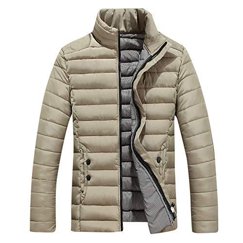Hommes De Loisirs avec Poche Vestes Doudoune d'usure Slim Fit Manteau Hiver Autumne Casual Sweatshirt Sport Pullover Blouse Blouson Pardessus Kaki XL
