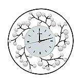 ZXCV Simple horloge murale en fer forgé miroir salon horloge moderne mode personnalité créative suspendu table mute chambre à coucher horloge...