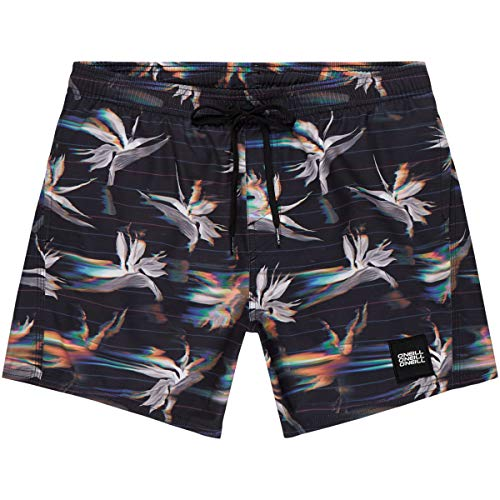 O'Neill Herren PM Summer-Floral Badehose, Schwarz All Over Print, S - Floral Print Boardshorts