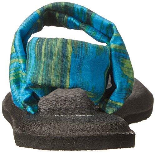 Sanuk Damen Yoga Sling#2 Zehentrenner Blue Ikat Prints