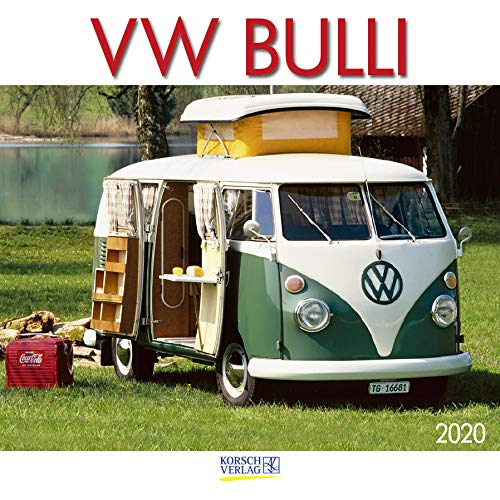 VW Bulli 2020: Broschürenkalender mit Ferienterminen. Wandkalender als Hommage. 30 x 30 cm