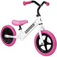 HAPTOO-Bicicleta sin pedales con sillín regulable de 3-7 años(12 pulgadas) (rosa)