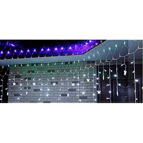 MJEL Stringa di LED luci impermeabile all'aperto Flash Natale addobbi , b