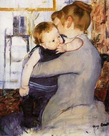 Feelingathome- imprimer-sur-toile-100%coton-Mre-et-enfant-1889-cm70x56-affiche-reproduction-gravure-