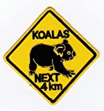Aufnäher Bügelbild Aufbügler Iron on Patches Applikation Koalas Next 4 km Australia Australien