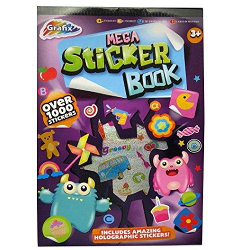 Mega-Aufkleber Buch - Über 1000 Sticker - Viele Designs, Formen & Nachrichten - Größe 290mm x 205mm