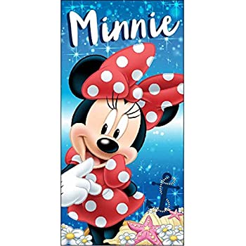 Arditex WD12668 Serviette en Microfibre 70 x 140 cm de Disney Minnie