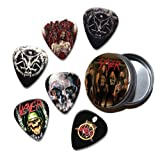 Slayer Set of 6 Loose Guitar Médiators in Tin ( Collection B )