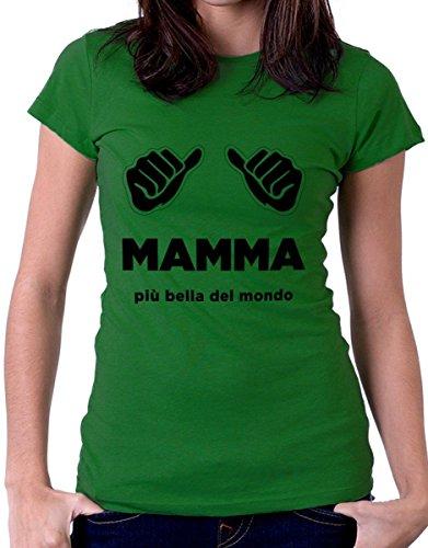 t-shirt festa della mamma -io ho un' eroina che si chiama mamma by tshirteria verde