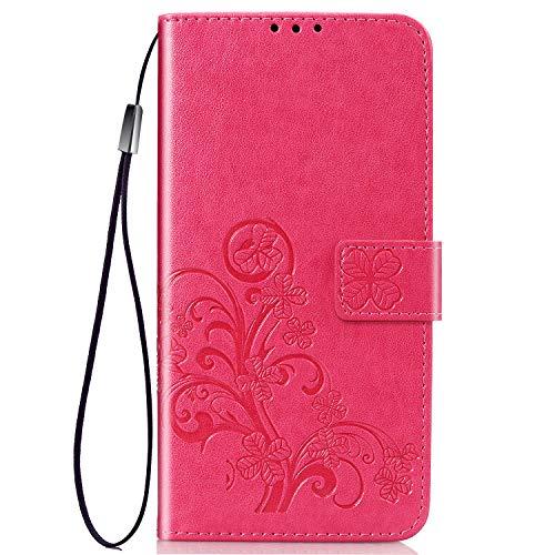 TANYO Funda Adecuado para Xiaomi Redmi Go, Patrón de Moda Hermosa Funda Billetera, Roja
