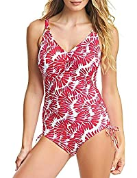 5d2505487f0ea Fantasie Swimwear Lanai Underwired V Neck Swimsuit Rose Red 6319 34E