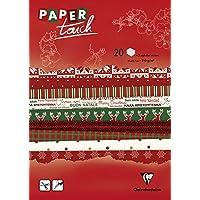 Clairefontaine–Papel Touch Bloc de Papel Navidad,, A4, Hojas de 20
