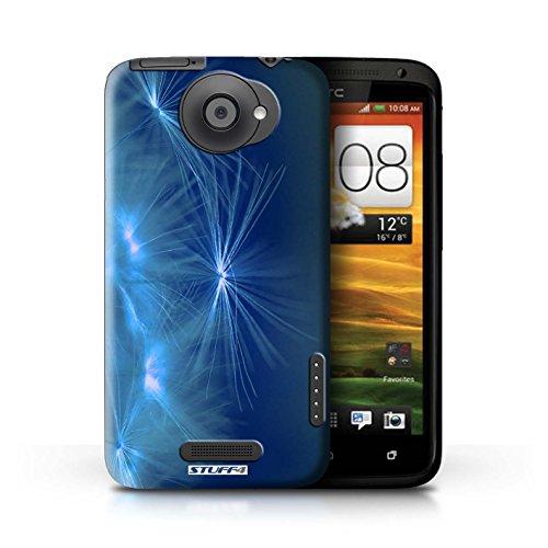 Kobalt® Imprimé Etui / Coque pour HTC One X / Orange conception / Série Allumez la vie Bleu