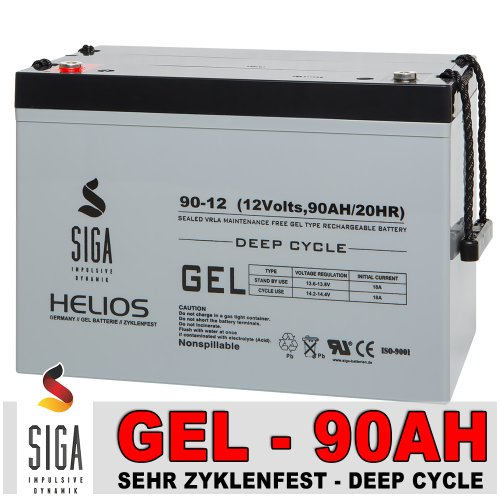 Gel Batterie 90Ah 12V Akku Blei Gel Batterie Solarbatterie Solarakku Wohnmobil Mover Boot sehr...