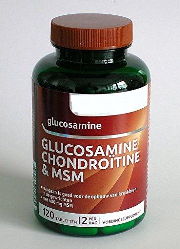 Glucosamin mit Chondroitin, MSM, Vitaminen und Mineralien 120 Tabletten