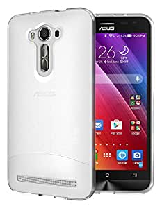 TUDIA Ultra Slim Full-Matte ARCH TPU Bumper Protective Case for Asus ZenFone 2 Laser 5.5 Inch (ZE550KL) [Not For ZE601KL 6.0 Inch] (Frosted Clear)