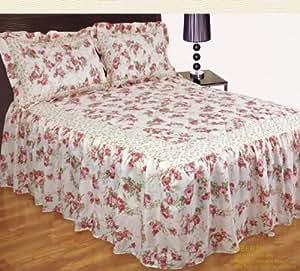 vintage motif fleuri liberty bedpread parure de lit drap housse taies d 39 oreiller assorties lit. Black Bedroom Furniture Sets. Home Design Ideas