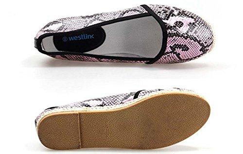 Primavera/estate scarpe di corda per il tempo libero/Un pedale scarpe di goffratura/shoe appartamenti Shallow Rosa