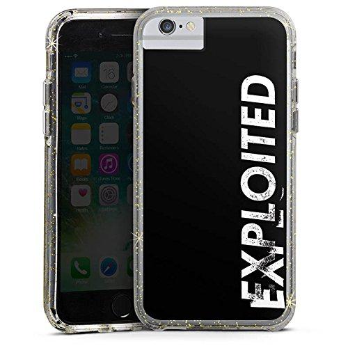 Apple iPhone 6s Bumper Hülle Bumper Case Glitzer Hülle Techno House Electro Bumper Case Glitzer gold