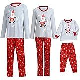 POLP Niño Pijamas de Navidad Familia mamá Pijamas de Navidad Pantalones de Camisa para Interiores Conjuntos 2 Piezas Ropa de Dormir para Dormir Unisex casa Pijama Bebe Trajes Navideños