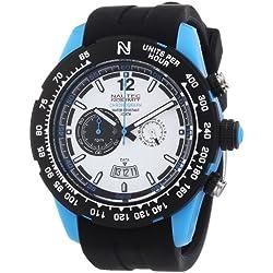 Nautec No Limit ZY2 QZ/RBPCBKWH-BL Men's Watch XL Zero Yon 2Chronograph Quartz Rubber