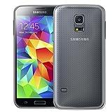 Conie Silikon Hülle kompatibel mit Samsung Galaxy S5 Mini, Backcover aus TPU Rutschfeste Oberfläche durchsichtig Transparente Handyhülle