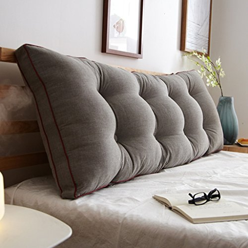Große dreidimensionale Dreieck Waschbar Bett Kopfteil Kissen Gepolsterte Sofas Große Rückenlehne ( Color : E , Size : 200*50CM )
