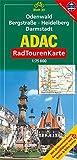 ADAC Radtourenkarte Odenwald, Bergstrasse, Heidelberg, Darmstadt: 1:75000 - unbekannt
