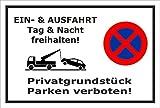Schild Park-verbot - Parken verboten - Ein- und Ausfahrt frei-halten - 30x20cm | stabile 3mm starke PVC Hartschaumplatte – S00020K-A +++ in 20 Varianten erhältlich