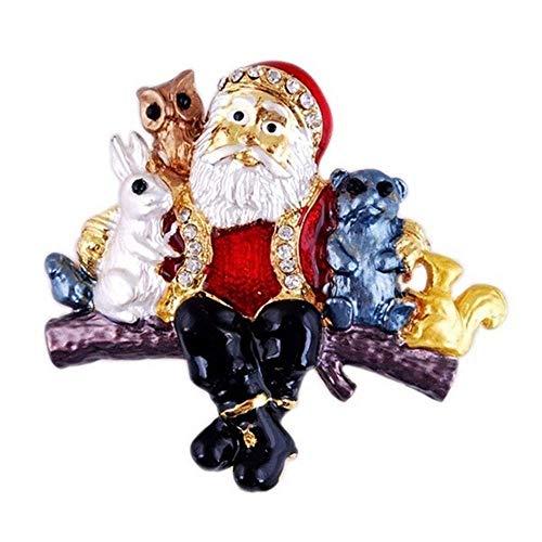 Vektenxi Premium Qualität Kreative Nette Santa Tiere Brosche Pins Kleidung Taschen Rucksäcke Jacke Abzeichen Zubehör für Frauen
